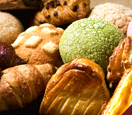 いろいろなメロンパンいっぱい